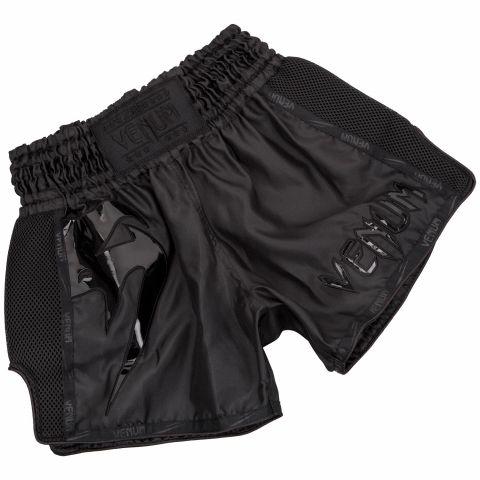 Pantaloncini da Muay Thai Venum Giant - Nero/Nero