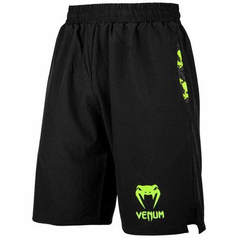 Pantalón corto de entrenamiento Venum Classic - Negro/Amarillo Fluo