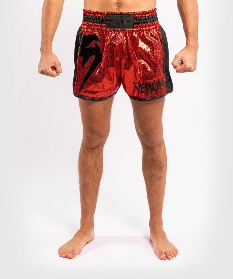 Pantaloncini da Muay Thai Venum Giant foil - Rosso/Nero