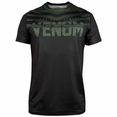 Venum Signature Dry Tech T-Shirt -  Schwarz/Khaki
