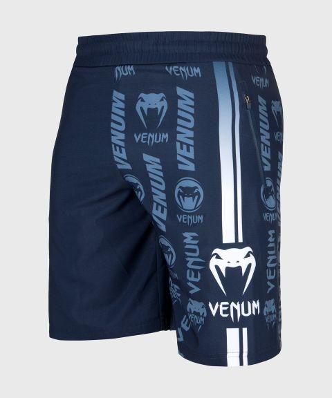 Venum Logos Training Shorts - Navy Blue/White
