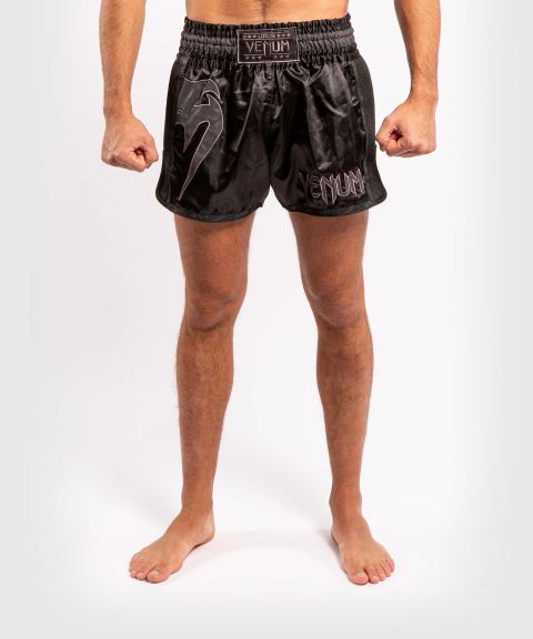 Venum Giant Glow Muay Thai Shorts - Black