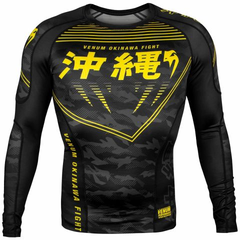 Venum Okinawa 2.0 Rashguard - Long Sleeves - Black/Yellow