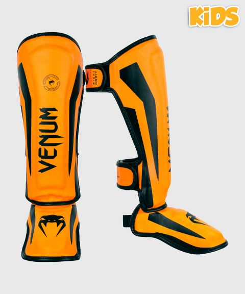 Protège-Tibias enfant Venum Elite - Orange fluo (Neo)