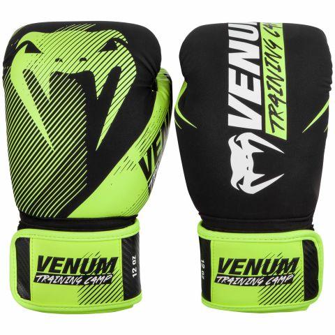 Venum Training Camp 2.0 Boxing Gloves - Black/Neo Yellow