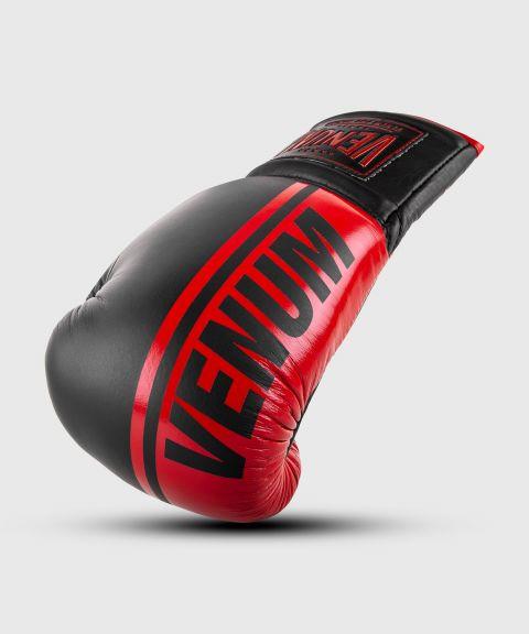 Guantoni da boxe professionali Venum Shield – Lacci - Nero/Rosso
