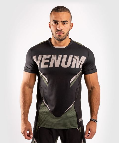 Venum ONE FC Impact Dry Tech T-Shirt - Black/Khaki