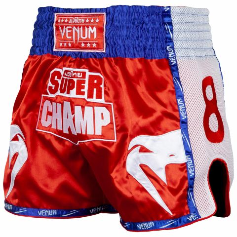 Short de Muay Thai Venum Super Champ - Exclusivité - Rouge