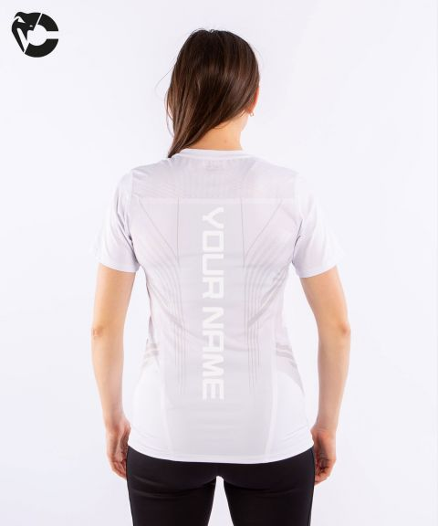 Camiseta Técnica Para Mujer Personalizada UFC Venum Authentic Fight Night - Blanco