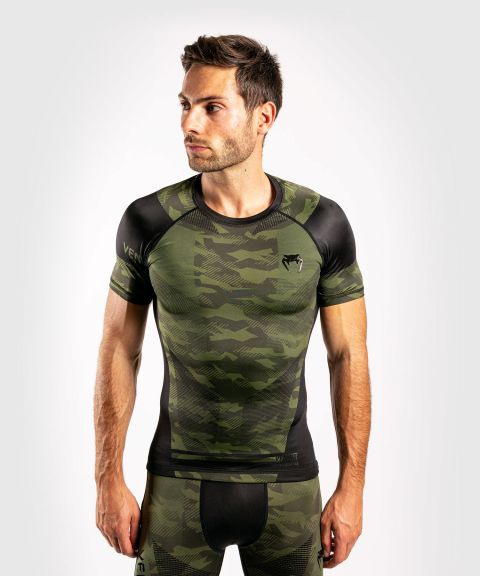 T-Shirt de compression Venum Trooper - Manches courtes - Forest Camo/Noir