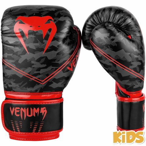 Venum Okinawa 2.0 Kids Boxing Gloves - Black/Red