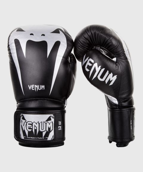 Venum Giant 3.0 Boxing Gloves - Nappa Leather - Black/Silver