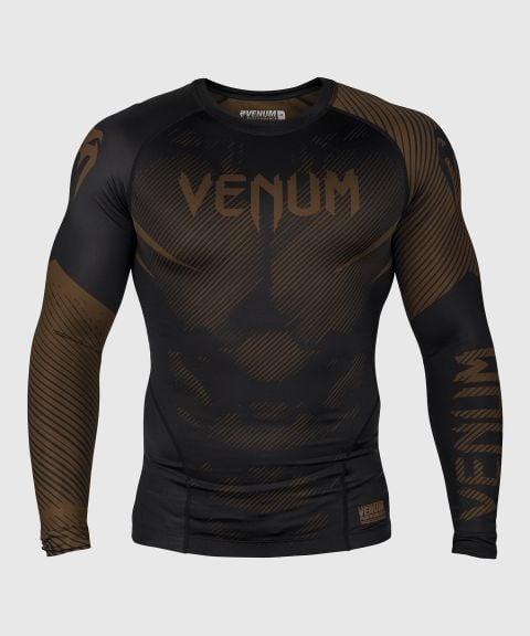 Venum NoGi 2.0 Rashguard - lange mouwen - zwart/bruin
