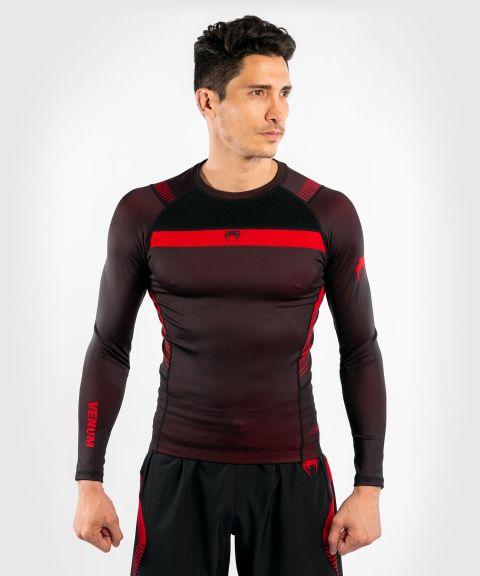 T-shirt de Compression Venum NoGi 3.0 - Manches Longues - Noir/Rouge