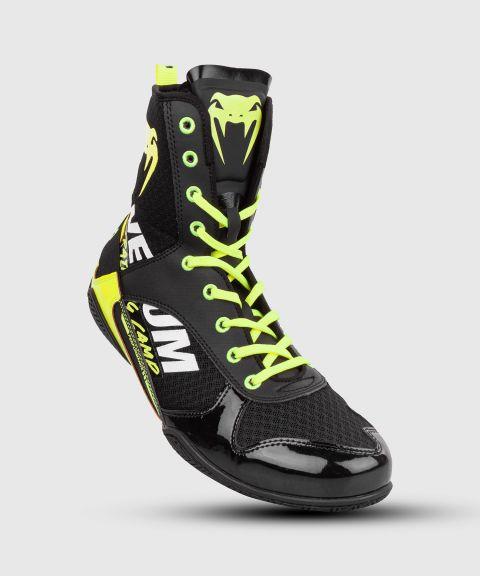 Zapatillas de boxeo Venum Elite edición VTC 2 - Negro/Amarillo Fluo