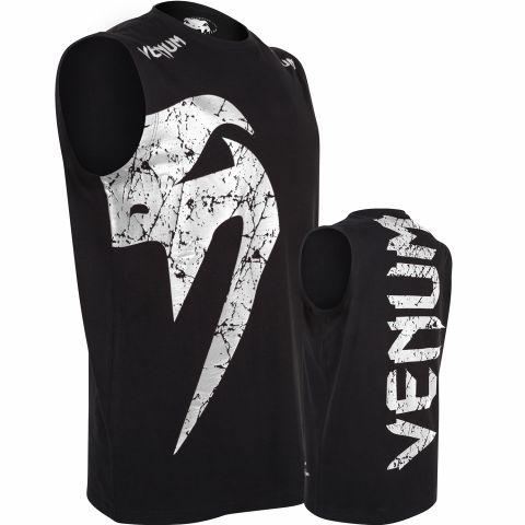 Camiseta sin Mangas Venum Giant - Negro/Hielo