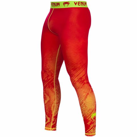 Venum Fusion Kompression Spats - Orange/Gelb