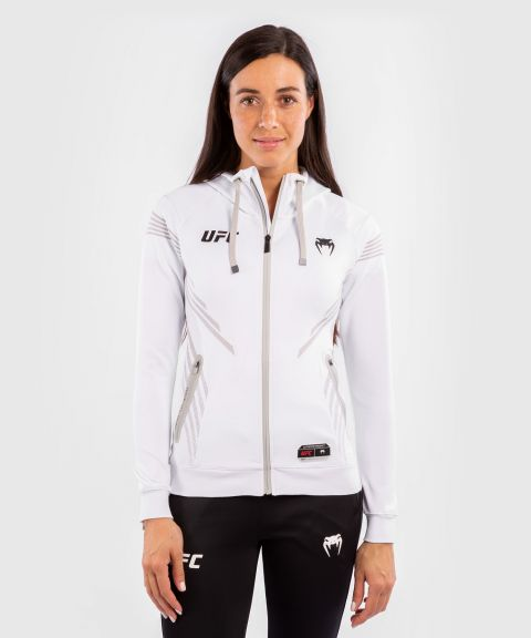 Sudadera Para Mujer UFC Venum Authentic Fight Night Walkout - Blanco