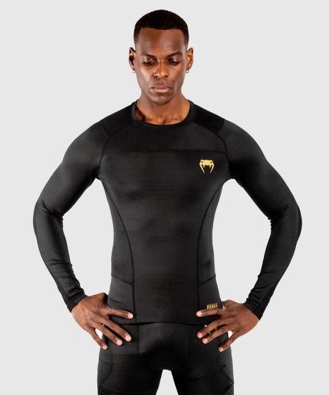 Venum G-Fit Rashguard - Long Sleeves - Black/Gold