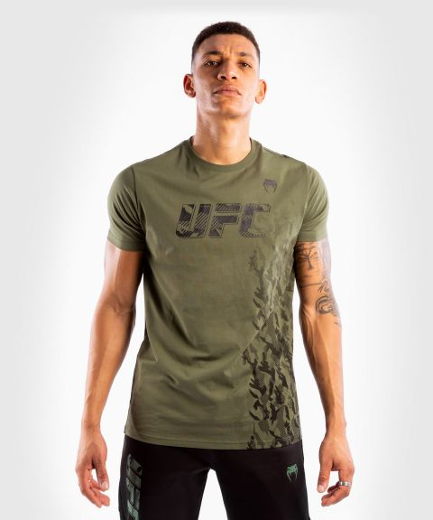 Maglia in Cotone a Maniche Corte Uomo UFC Venum Authentic Fight Week - Verde