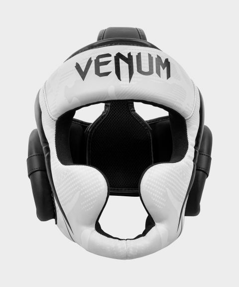 Venum Elite Boxing Headgear - White/Camo