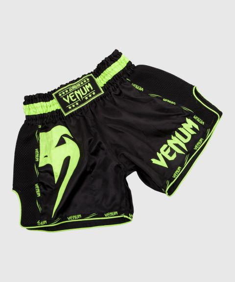 Venum Giant Muay Thai Shorts - Black/Neo Yellow