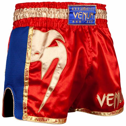 Short de Muay Thai Venum Giant - Rouge/Or