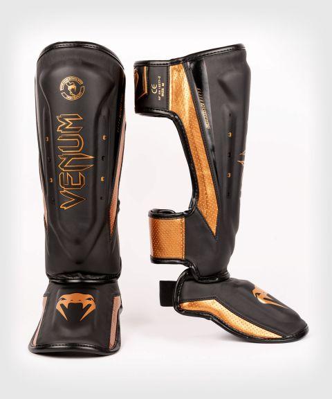 Espinilleras Venum Elite Evo - Negro/Bronce