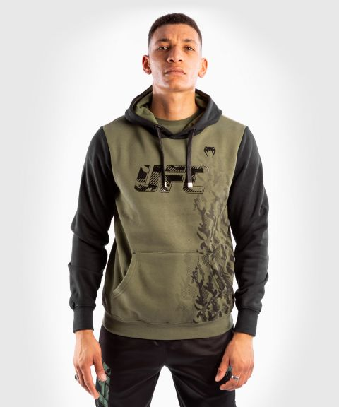 UFC Venum Authentic Fight Week Pullover Hoodie voor heren - Kaki