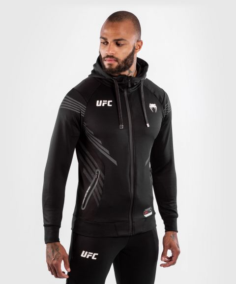 UFC Venum Authentic Fight Night Men's Walkout Hoodie - Black