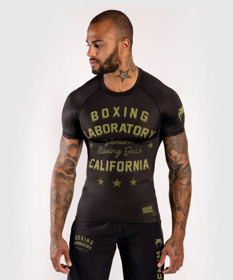 Venum Boxing Lab Rashguard - Short sleeves - Black/Green