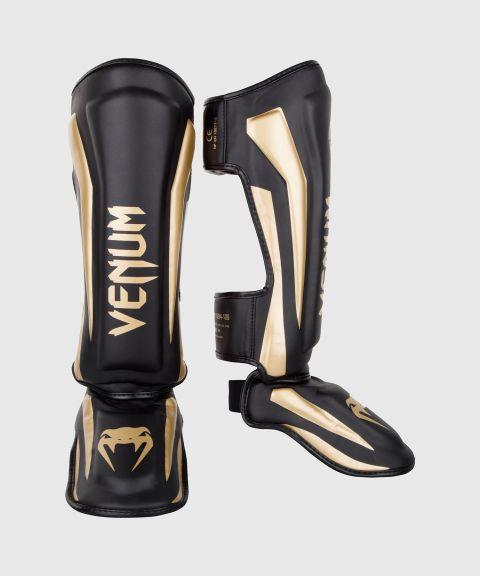 Venum Elite Standup Shin guards - Black/Gold