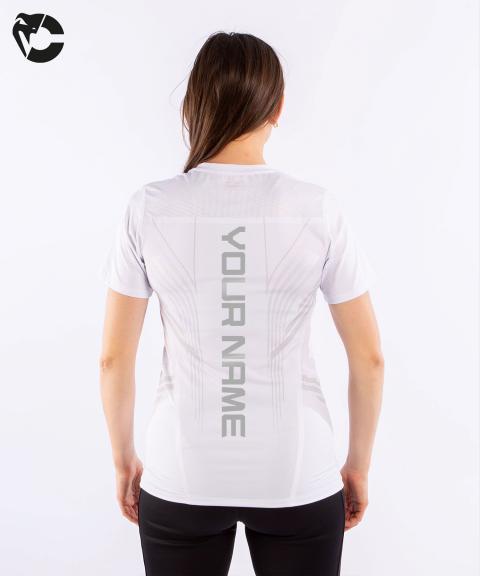 T-shirt Technique Femme Personnalisé UFC Venum Authentic Fight Night - Blanc