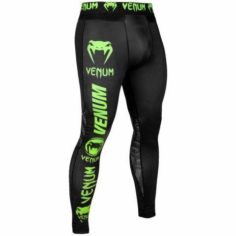 Venum Logos Spats - Zwart/Neongeel