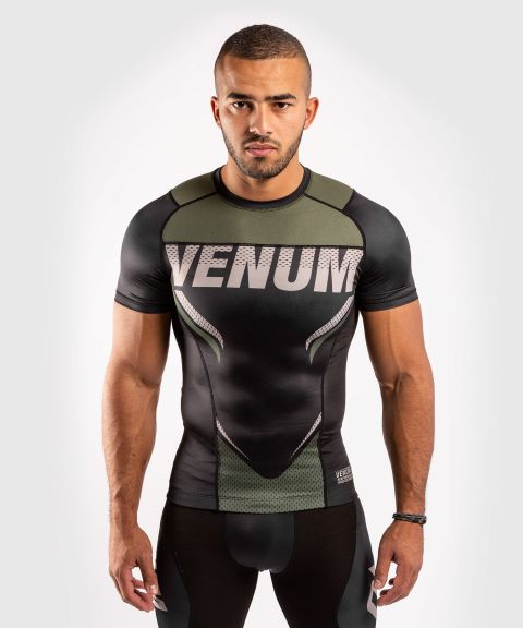 T-shirt de compression Venum ONE FC Impact - manches courtes - Noir/Kaki