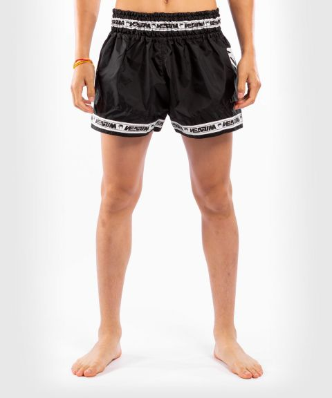 Pantalones cortos Venum Muay Thai Parachute - Negro/Blanco