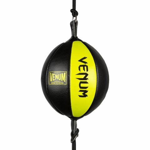 Venum Hurricane double ended oval bag- Black/Yellow