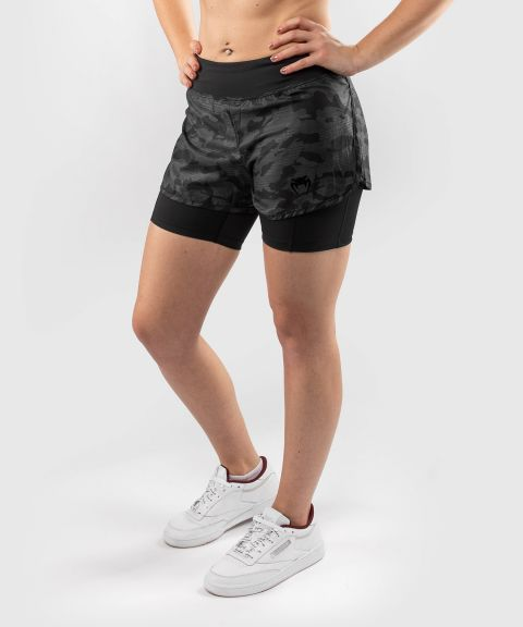 Shorts a compressione ibrida Venum Defender 2.0 - Nero/Nero
