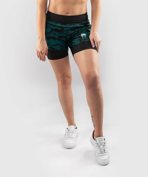 Short de Compression Venum Defender Hybrid  - Noir/Vert
