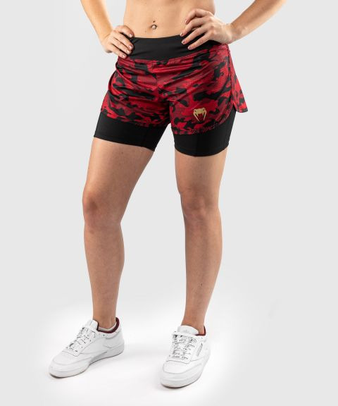 Short de Compression Venum Defender Hybrid  - Noir/Rouge