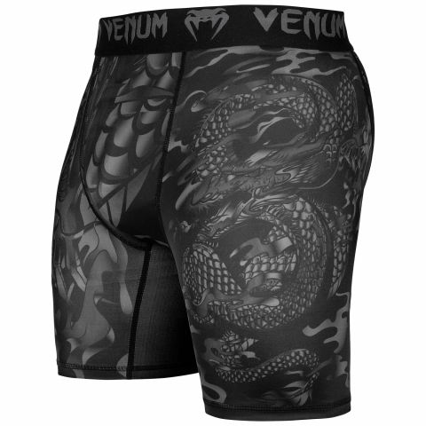 Kompressions-Shorts Venum Dragon's Flight - Schwarz/Schwarz