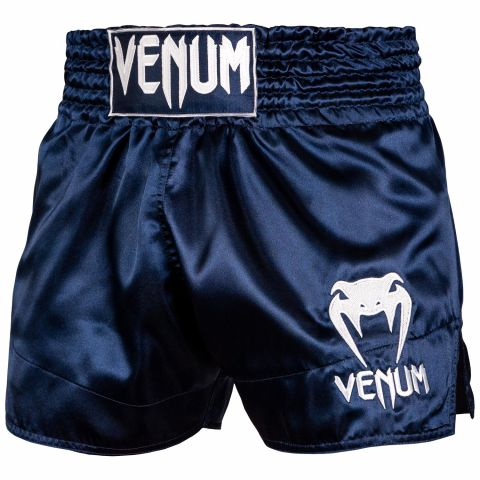 Venum Muay Thai Shorts Classic - Navy Blue/White