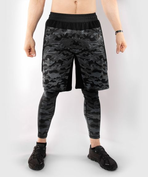 Sportshort Venum Defender - Donkercamouflage