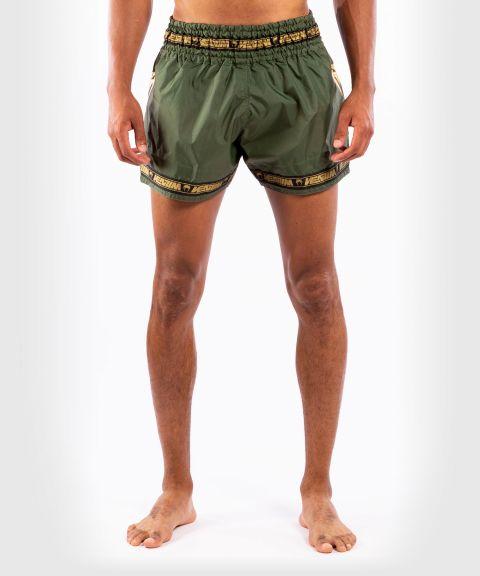 Pantalones cortos Venum Muay Thai Parachute - Caqui/Dorado