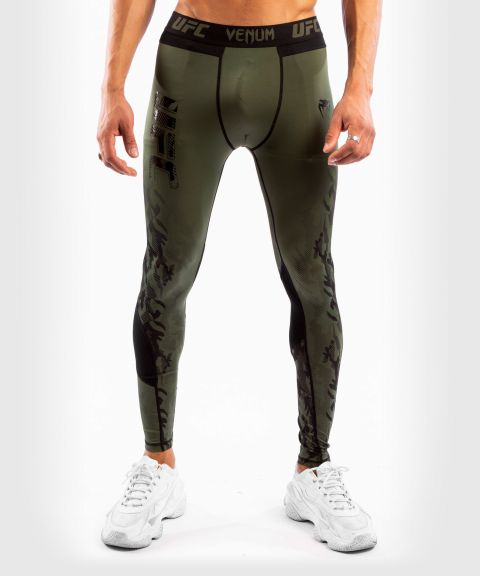Pantaloni a Compressione Uomo UFC Venum Authentic Fight Week - Verde