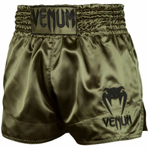 Shorts Muay Thai Venum Classic - Khaki/Schwarz