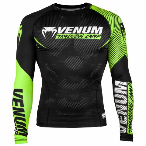 Camiseta de compresión Venum Training Camp 2.0 - Mangas largas - Negro/Amarillo Fluo