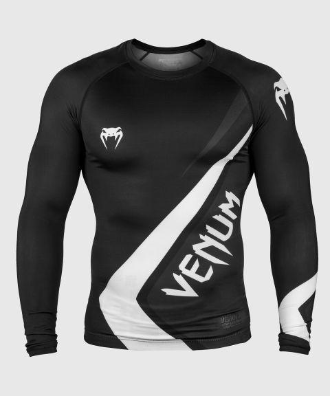 Venum Contender 4.0 Rashguard - lange mouwen - zwart/grijs-wit