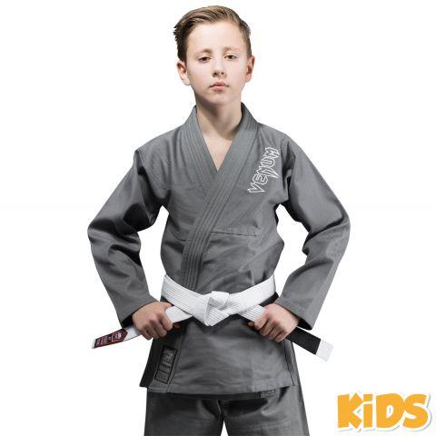 Kimono JJB enfant Venum Contender + Ceinture blanche offerte - Gris