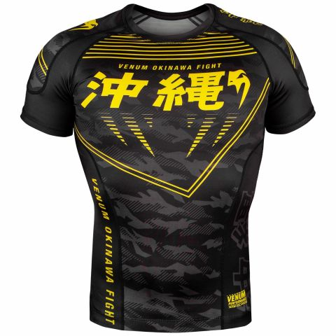 Venum Okinawa 2.0 Rashguard - Short Sleeves - Black/Yellow